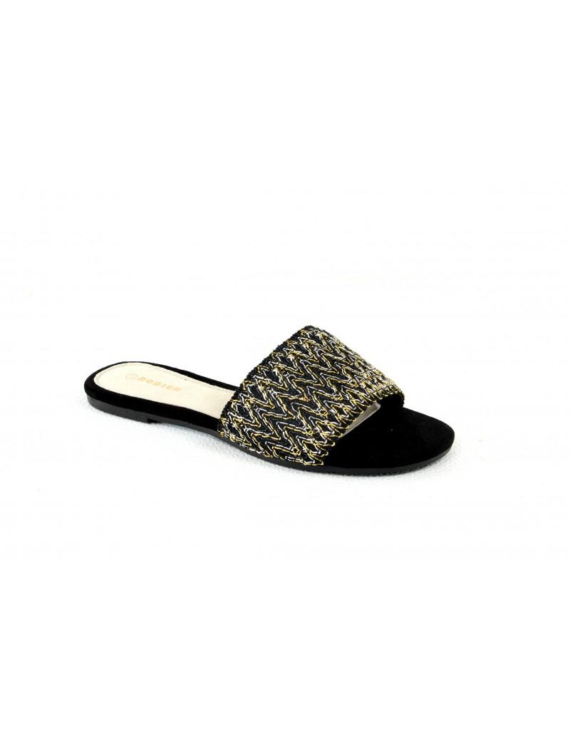 Sandales avec broderie