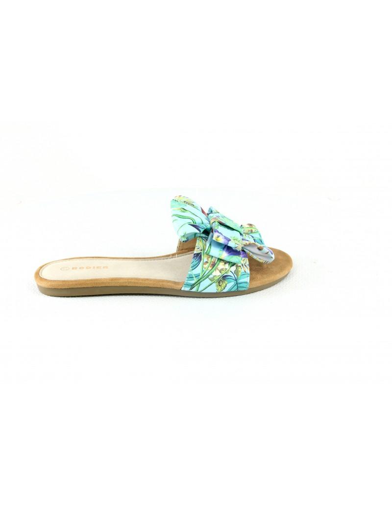 Sandale nu pieds avec noeud