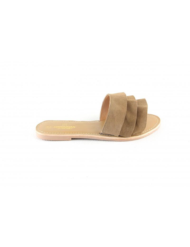 Sandales en cuir ouverte à...