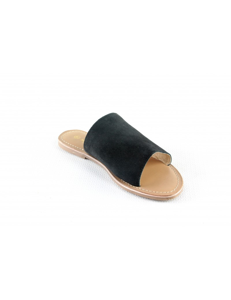Sandales en cuir à enfiler