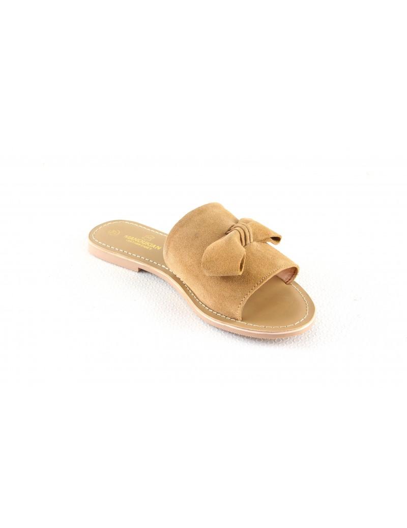 Sandales en cuir à enfiler...