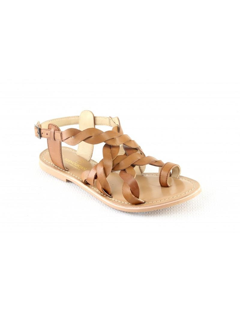 Sandale en cuir tressées...