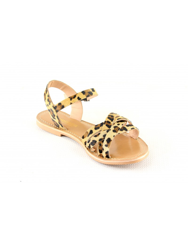 Sandale en cuir ouverte...