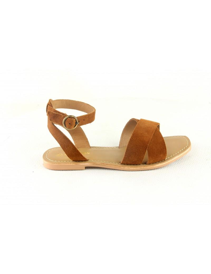 Sandale en cuir lanières...